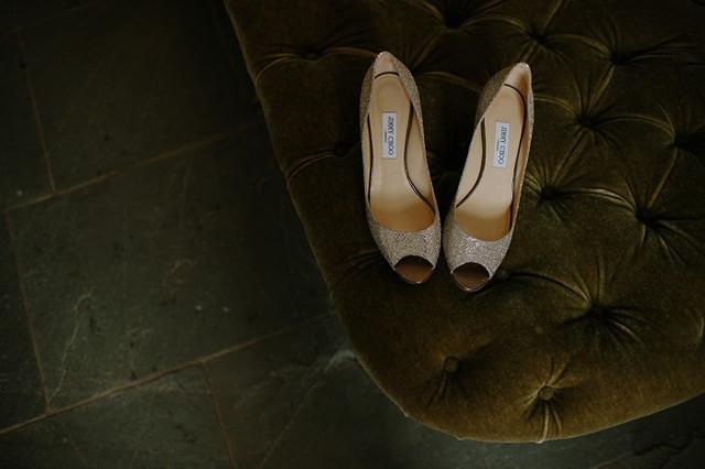 Jimmy Choo high-heeled shoes
