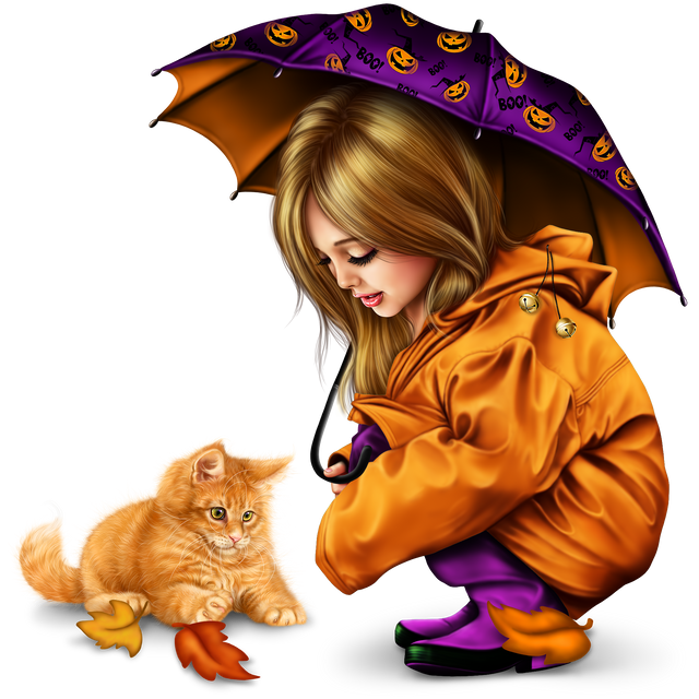 little-girl-in-raincoat-with-a-kitty-png-26da0e71b18dade1e4.png