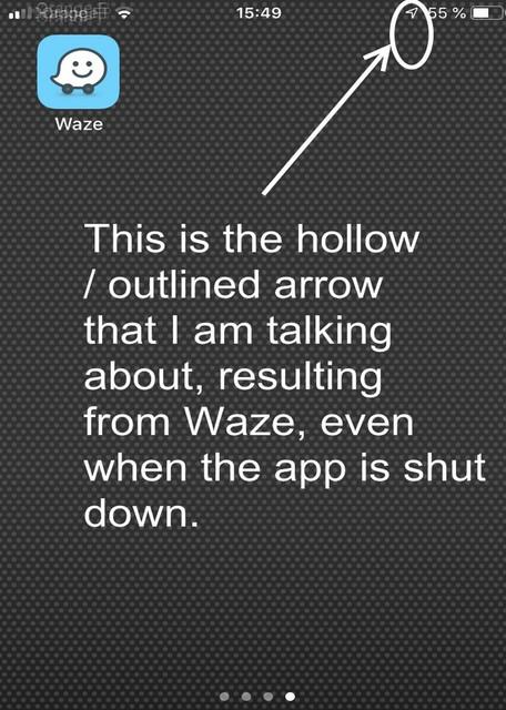 waze com • View topic - GPS arrow always on IOS11, IOS12