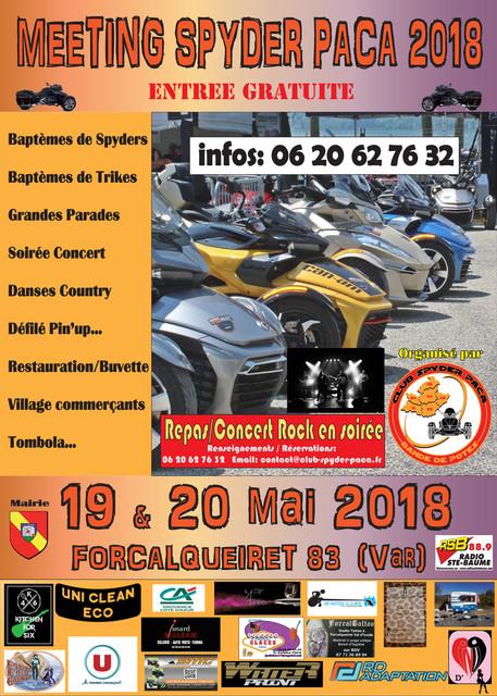 Affiche Meeting Spyder Paca 2018 valid