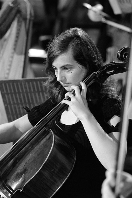 1972_Hilary_O_Donovan_cellist_in_rehearsals_for_1972_concert_season_at_Gaiety_THeatre