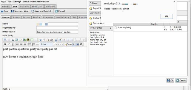 Insert SVG image using TinyMCE | Episerver Developer Community