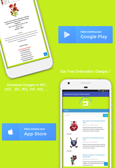 "Get App "" Embroidery Designs 