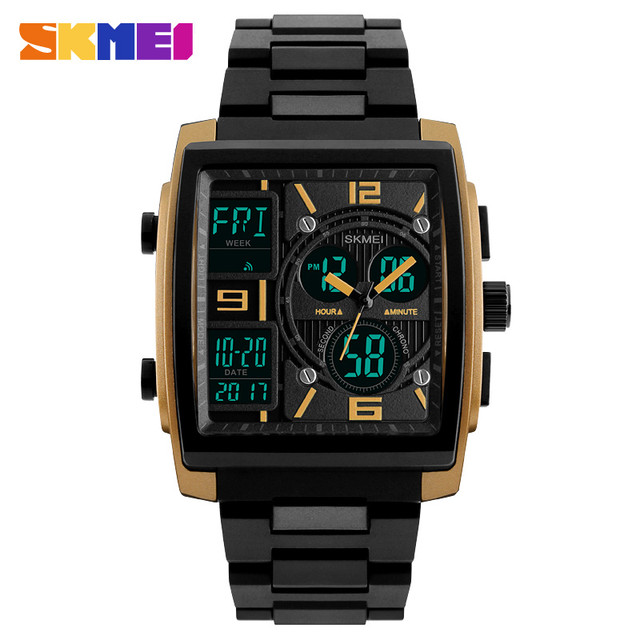 23fe2664cfb Watch Chronograph Alarm Digital Sport Mens Date Wrist Men Analog Waterproof  New