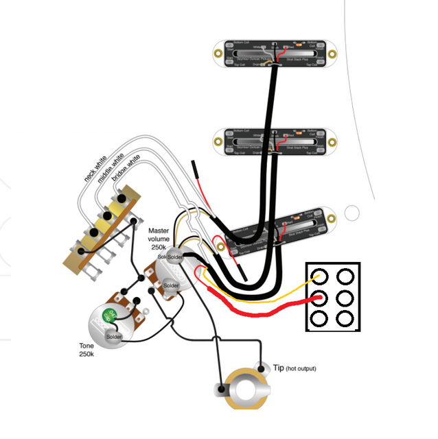 wiring diagram help s s stack with dpdt switch
