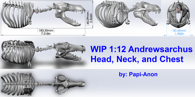 Andrewsarchus Mesonychid Skeleton Preview 2
