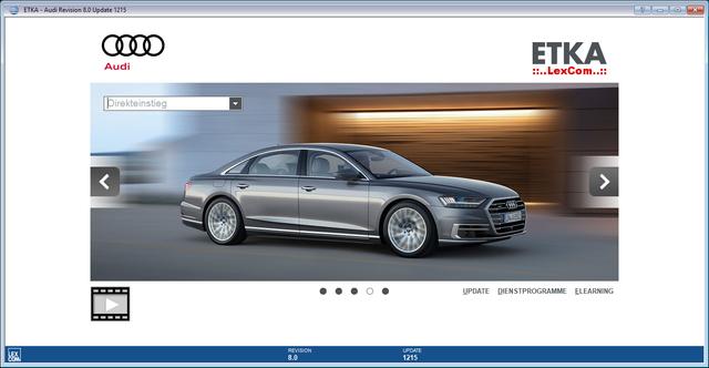 ETKA 8 [Germania + Internazionale] v2018 32 / 64Bit + Ultimi aggiornamenti - VW / Seat / Skoda / Audi