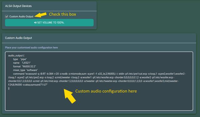 Custom Audio Config