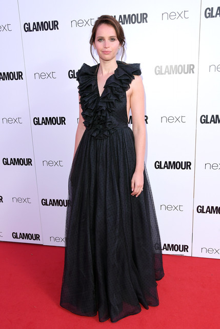 LONDON ENGLAND JUNE 06 Felicity Jones attends the Glamour Women of The Year Awards 2017 at Berkeley