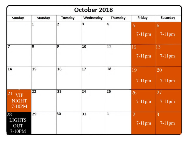 October 2018 Calendar October 2018 Calendar Printable intended for Calendar October 2018 Printable a