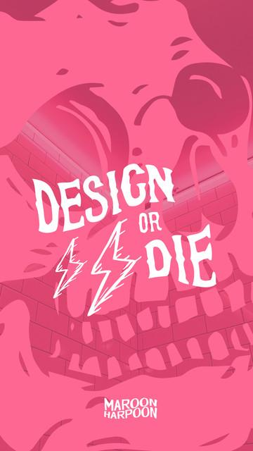 MH Design Or Die Mobile Wallpaper