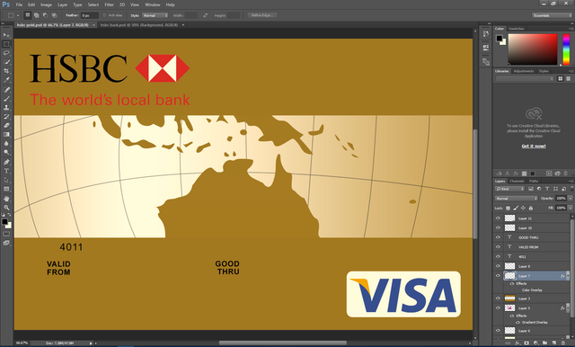 HSBC Gold Credit Card PSD Template