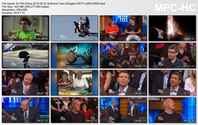 Dr Phil Show 2010 05 27 Extreme Teen Dangers HDTV x264-OWN mp4