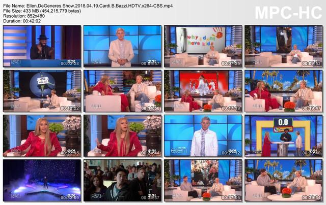 Ellen DeGeneres Show 2018 04 19 Cardi B Bazzi HDTV x264-CBS mp4