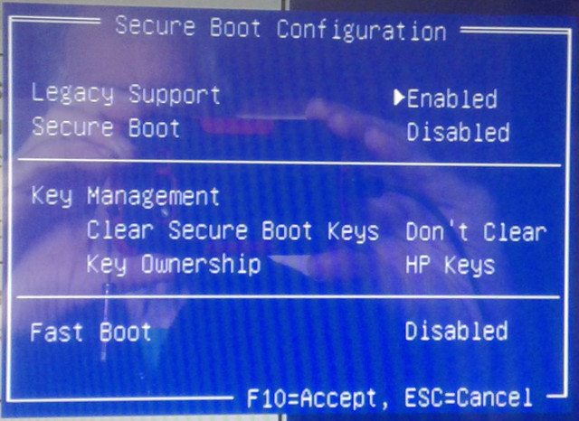 Hp Secure Boot