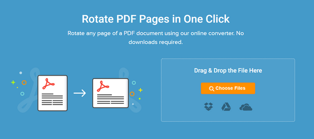 rotate pages in pdf online for free