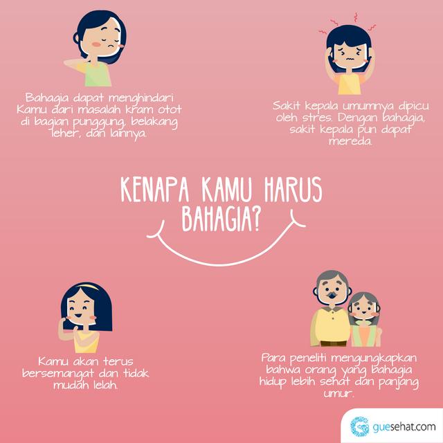 Bahagia, kunci sehat paling sederhana