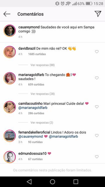 O amor está de volta! Cauã Reymond posta foto com Mariana Goldfarb, mas para sua surpresa, fãs ficam indignados