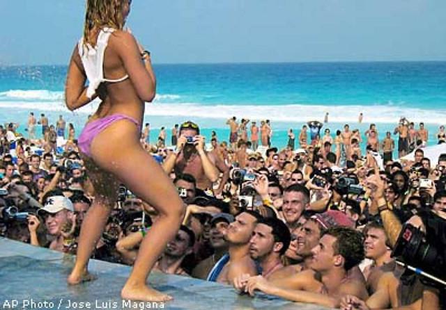 Drunk beach party