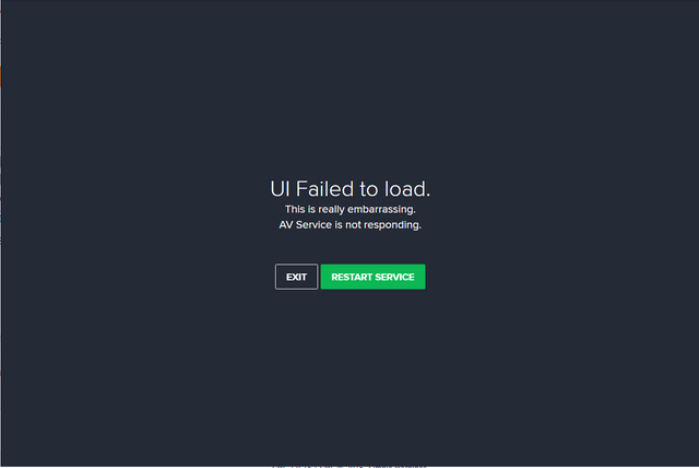 avast ui failed to load fix