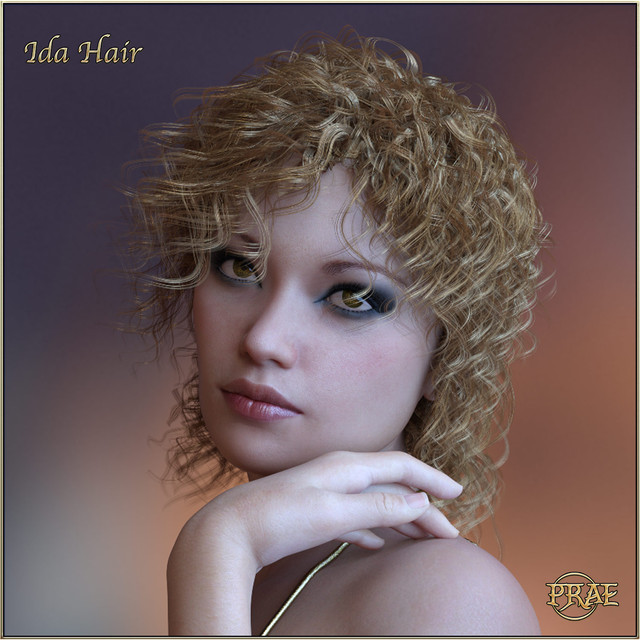 Prae Ida Hair For G3G8 Daz