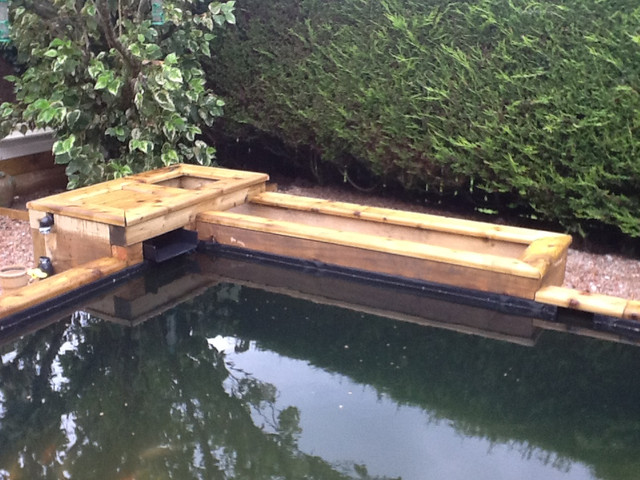 My new build pond 10 000 litres semi raised page 11 for Pond veggie filter