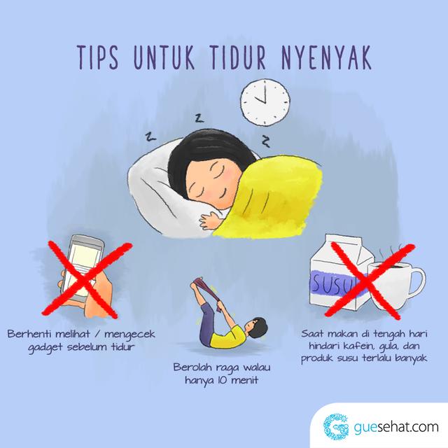 Tips Tidur Nyenyak - guesehat.com