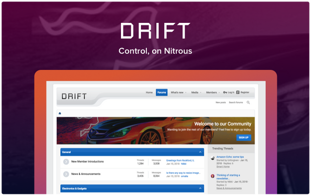 XF 2 X - Drift 2 0 6 0 0 - light style XenForo 2 | Download Nulled