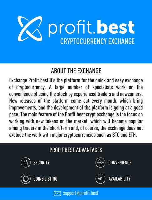 Profit Best - new cryptocurrency exchange add your token