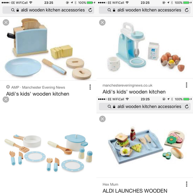 Aldi Wooden Toy Kitchen 2018