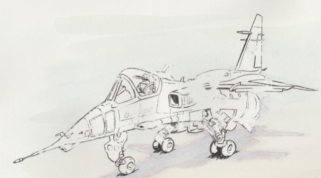 """""""L'avion qui sent la poudre"""" Jaguar_Bleu_Foir"""