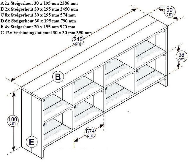 zelf een kast maken met een bouwtekening wandkast
