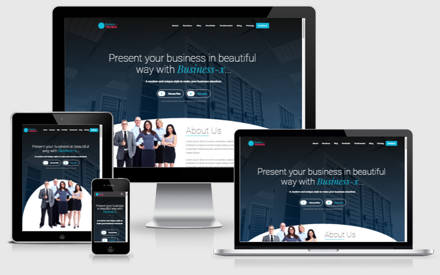 Download Business-x: WordPress Business Landing Page nulled business x