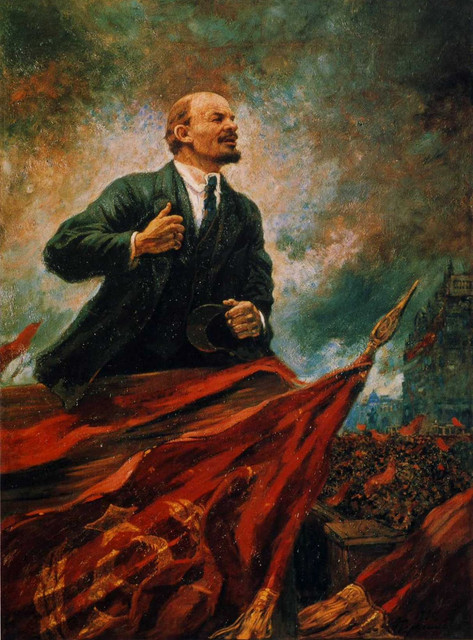 Aleksandr_Gerasimov_Lenin_on_the_Rostrum