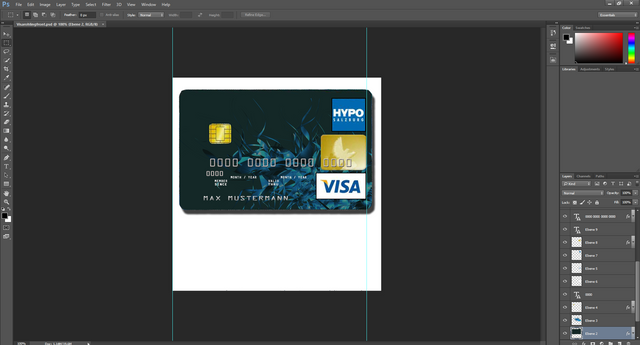 BERLINER BANK VISA CARD PSD TEMPLATE