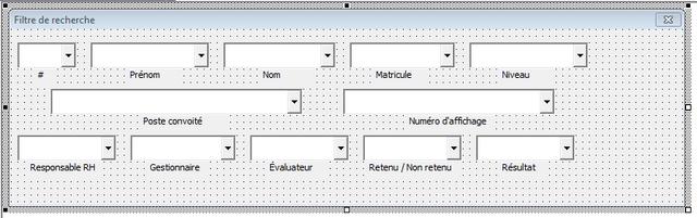 Userform recherche