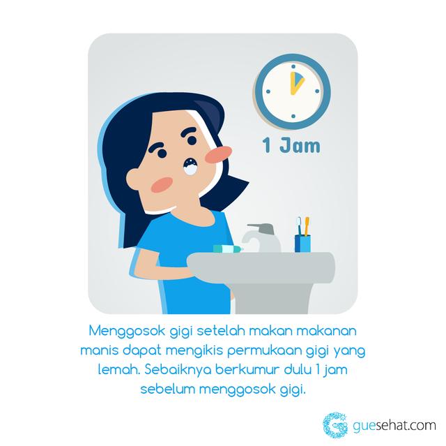Menggosok Gigi Setelah Makan Manis -GueSehat.com