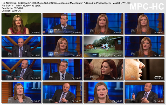 Dr Phil Show 2014 01 21 Life Out of Order Because of My Disorder  Addicted to Pregnancy HDTV x264-OWN mp4