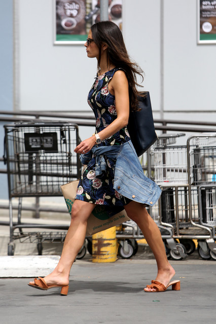 EXCLUSIVE Jordana Brewster mixes up her style a little while shopping at Whole Foods in Santa Monica