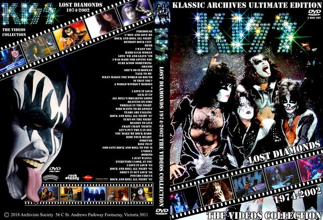 KISS - The Lost Diamonds 3 DvD's by DVD Teka - Guitars101 - Guitar