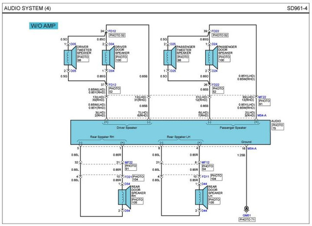 Wiring Diagrams For Fd I30 Audio  Now With Clearer Images