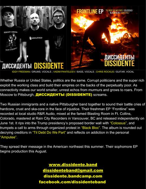 DISSIDENTE Press Release 2017