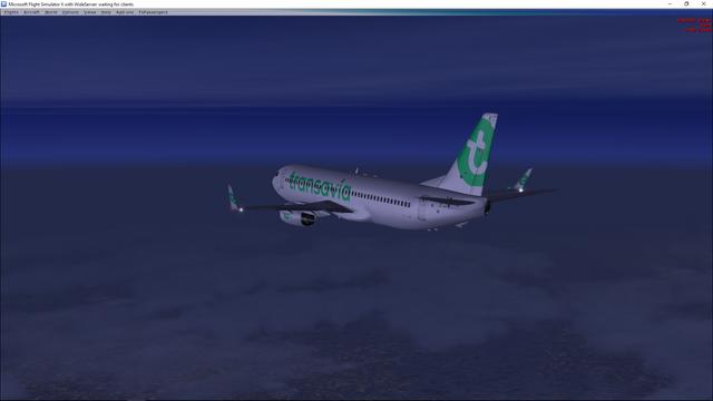 737 descent evening