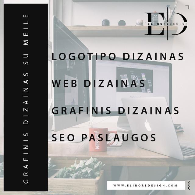 Elinore Design: grafinis dizainas, logotipai, web dizainas, SEO