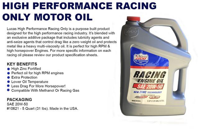 Sae 20w 50 High Performance Zinc Mineral Racing Engine Oil