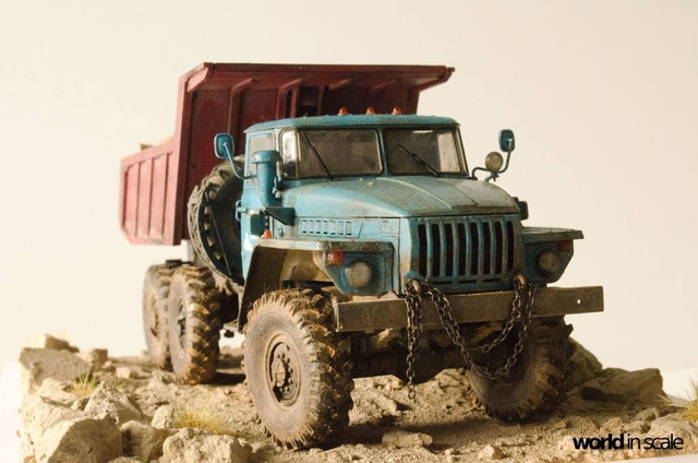 "Ural-4320 ""Dumper Truck"" - 1/35 by Trumpeter, Balaton Modell 25587095_960247547476094_7450659711894546904_o"