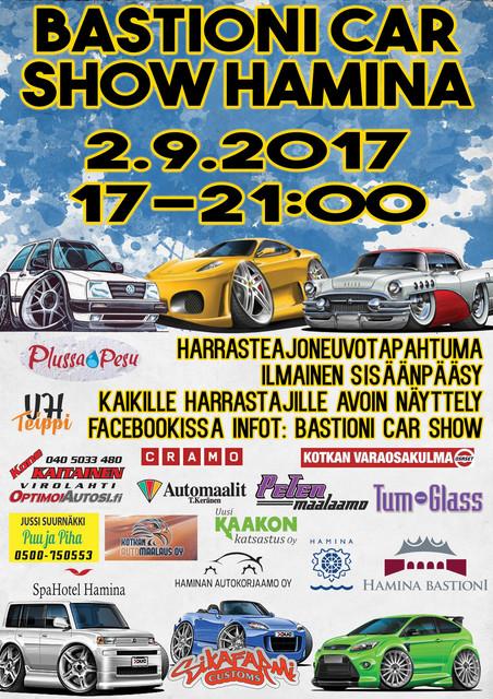 BASTIONI CAR SHOW HAMINA. 2.9.2017 Juliste