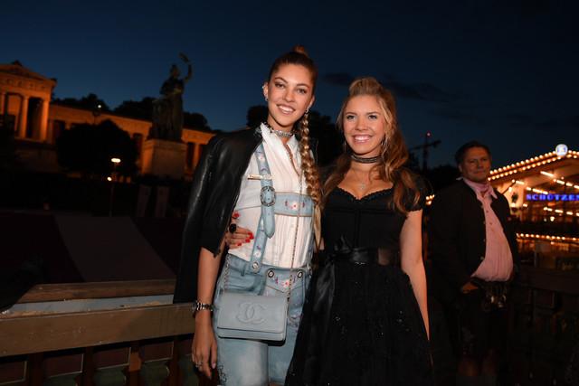 The-Austrian-singer-Victoria-Swarovski-and-her-sister-Paulina-Swarovski-seen-in-the-Kaefer-festival-