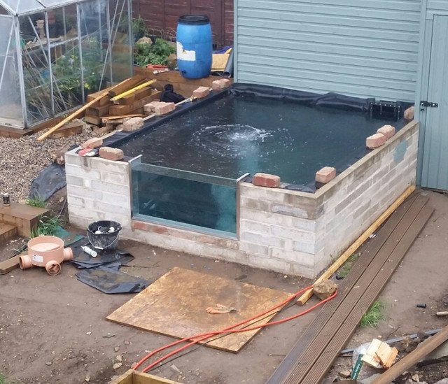 My slow pond build page 3 pond design and for Koi pond builders yorkshire