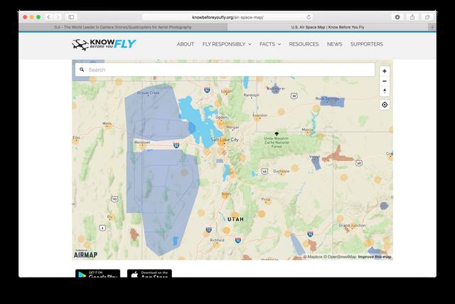 MOANFZ Resolution DJI Mavic Drone Forum - Airmap app